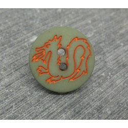 Bouton dragon kaki 15mm
