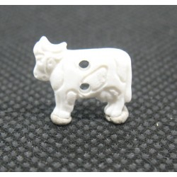 Bouton vache blanche 15mm