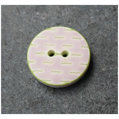 Bouton pointillé parme anis 20 mm b1