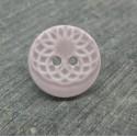 Bouton ellipse émaillé parme 15mm