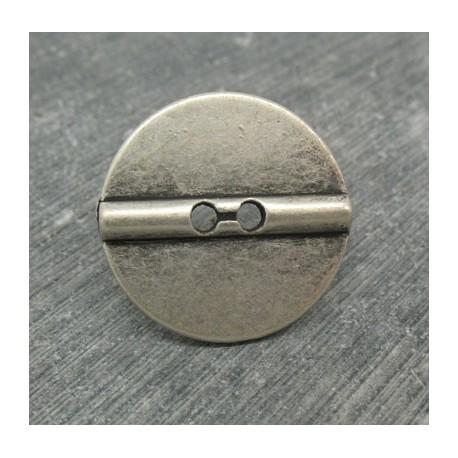 Bouton barrette vieil argent 23mm