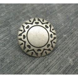 Bouton incas vieil argent 15mm