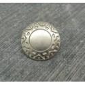 Bouton incas argent 15mm