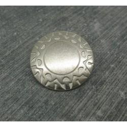Bouton incas argent 23mm