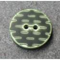 Bouton pointillé sapin vert 20 mm b1