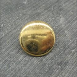 Bouton métallisé doré 18mm