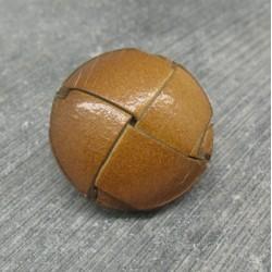 Bouton cuir verni marron clair 27mm