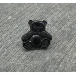 Bouton ourson noir 14mm
