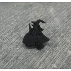 Bouton sorcière noir 14mm