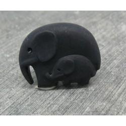 Bouton éléphant noir 27mm