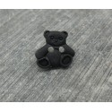 Bouton ourson noir 11mm