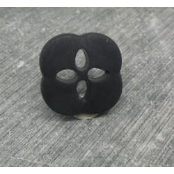 Bouton fleur noir 20mm