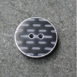 Bouton pointillé noir blanc 20 mm b1