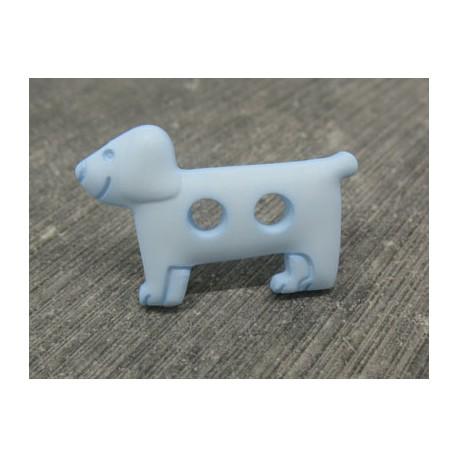 Bouton chien teckel ciel 30mm