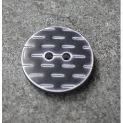 Bouton pointillé noir blanc 18 mm b1