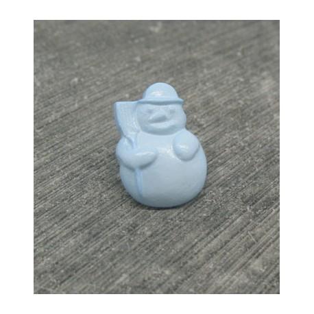 Bouton bonhomme de neige ciel 18mm