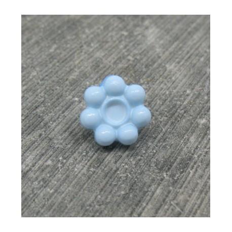 Bouton fleur 7 pétales ciel 10mm