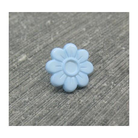 Bouton fleur 8 pétales ciel 12mm