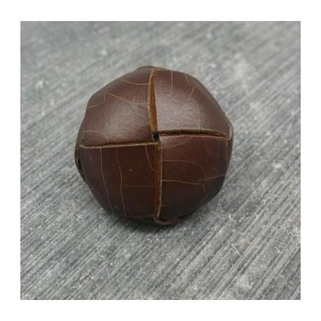 Bouton cuir marron foncé 20mm