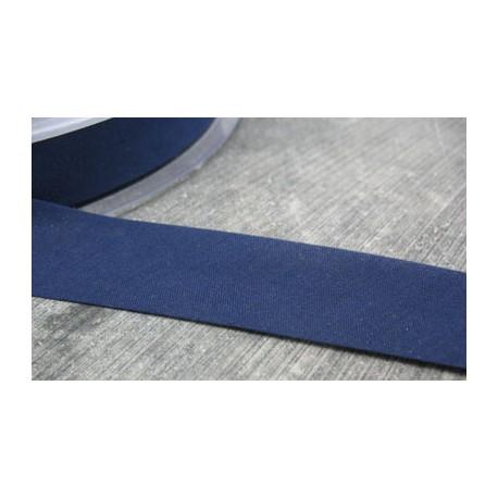 Biais plié polyester marine 10mm fini