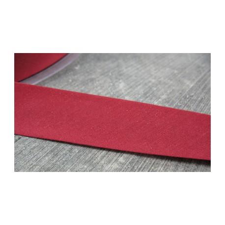 Biais plié polyester framboise 10mm fini