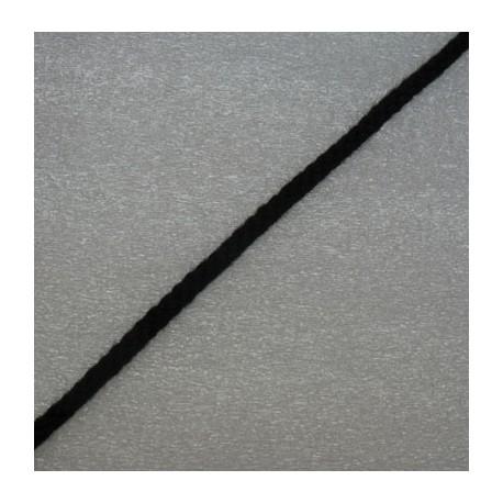 Tresse coton noir 3mm