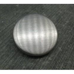 Bouton brossé argent 30mm
