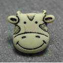 Bouton vache écru 15 mm b8