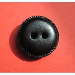 Bouton cuir noir 23mm