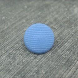 Bouton pointillé bleu ciel 12mm