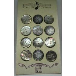 Plaque Tahiti 28  ... 12 boutons ciselés 27mm