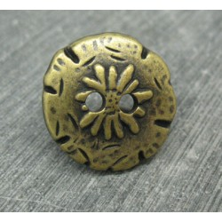 Bouton edelweiss vieil or 22mm