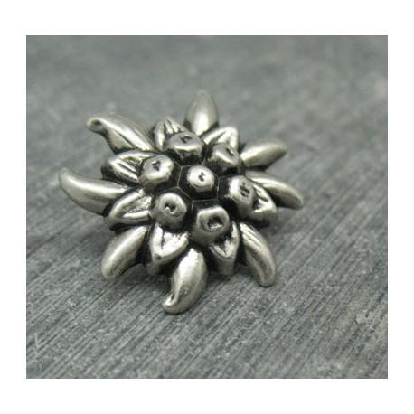 Bouton edelweiss étoilée 23mm