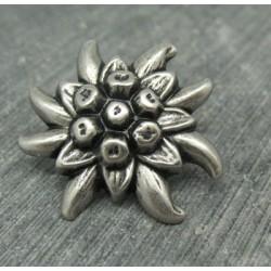 Bouton edelweiss étoilée 28mm