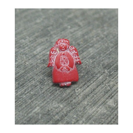 Bouton ange rouge 12mm