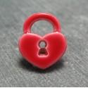 Bouton cadenas coeur rouge 15 mm b22