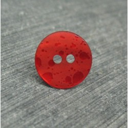 Bouton nacre effet goutte d'eau rouge 13mm