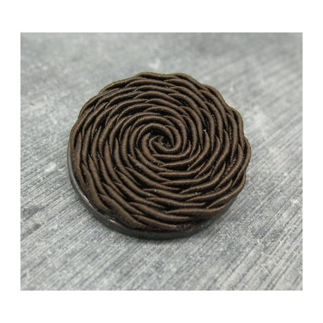 Bouton passementerie marron 31mm