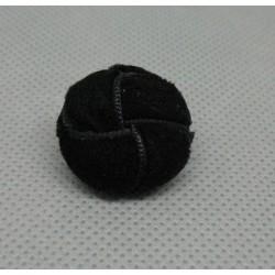 Bouton velours noir imitation bouton cuir 21mm
