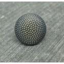 Bouton pixel vieil argent or 15mm