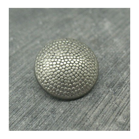 Bouton pixel argent 18mm