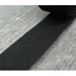 Biais plié coton noir 15mm fini