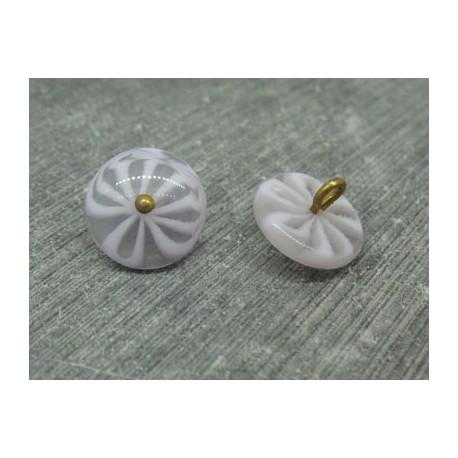 Bouton  fleur 5 lobes translucides lavande 15mm