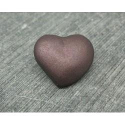 Bouton coeur vieux rose 18mm