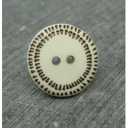 Bouton écru pointillé 18mm