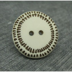 Bouton écru pointillé 22mm