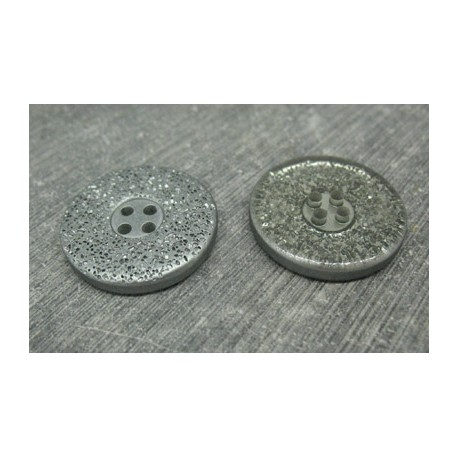 Bouton lunaire semi translucide gris 25mm
