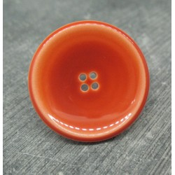 Bouton orange verni 31mm