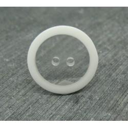 Bouton translucide bord blanc 23mm
