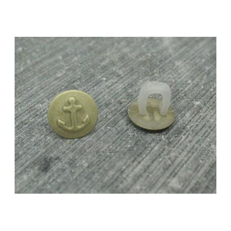 Bouton ancre doré 9mm